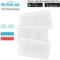 Broadlink TC2 Light Switch US AU Standard 110V 150V 3Gang Wall Light Switch Wireless Remote Control