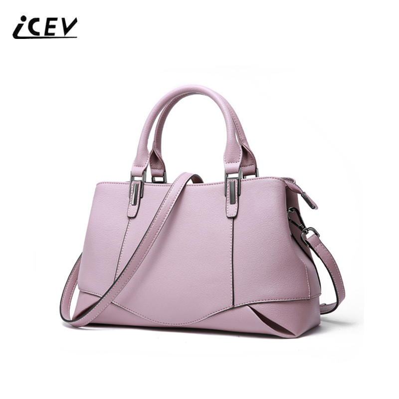 ICEV New Fashion Genuine Leather Handbags Women Leather Handbags Ladies Hand Bags Simple Top Handle Bag Totes Bolsa Feminina Sac kzni real leather tote bag high quality women leather handbags top handle bags purses and handbags bolsa feminina pochette 9057