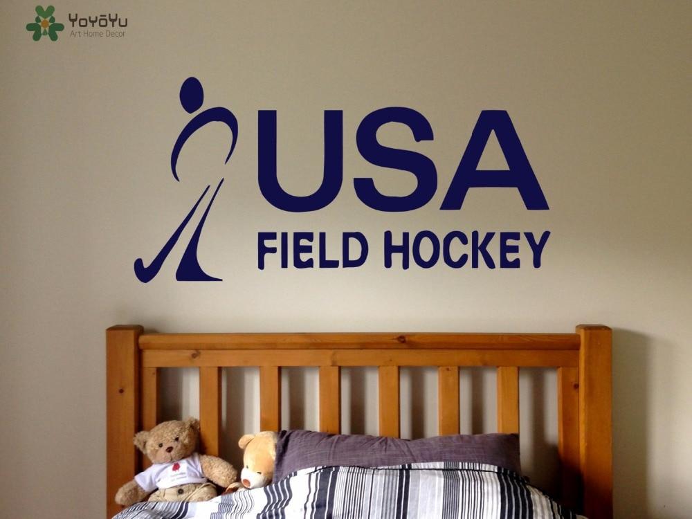 Camera Matrimoniale A Prato.Yoyoyu Hockey Sport Wall Stickers Per Bambini Camere Citazione