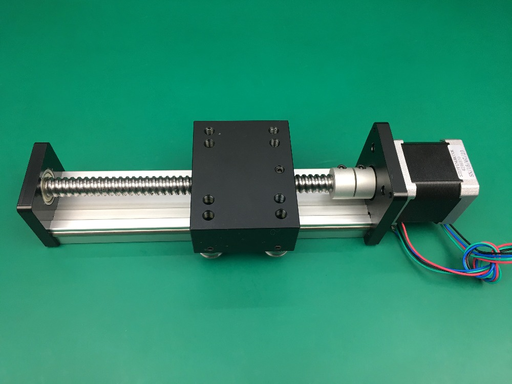 High Precision SGK Ballscrew 1610 300mm 400mm Travel Linear Guide+ Nema 17 Stepper Motor CNC Stage Linear Motion Moulde Linear toothed belt drive motorized stepper motor precision guide rail manufacturer guideway