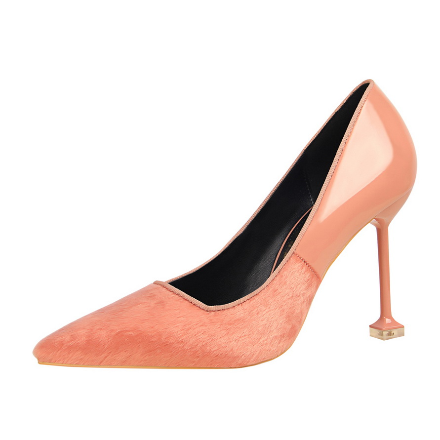 Hot Sale Women 39 s Pumps Stiletto High heeled Shallow Mouth Pointed Sexy Patent Leather Matching Designer Women Luxury Shoes K0011 in Women 39 s Pumps from Shoes