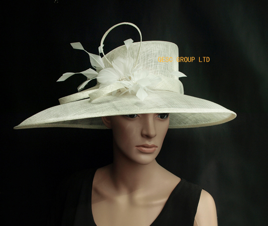 Us 590 Ivory Cream X Large Special Shape Dress Sinamay Hats Church Hats For Racesweddingkentucky Derbyascotparty In Womens Fedoras From
