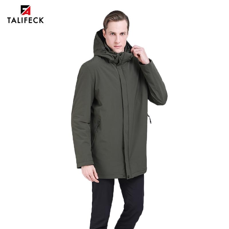 MALIDINU 2019 Fashion Men Down Jacket 70 Duck Down Winter Thick Long Down Coat Brand European