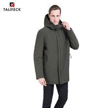 2019 Men Jacket Autumn Padded Trench Coat Windbreaker Hooded Casual Fashion Long Parka