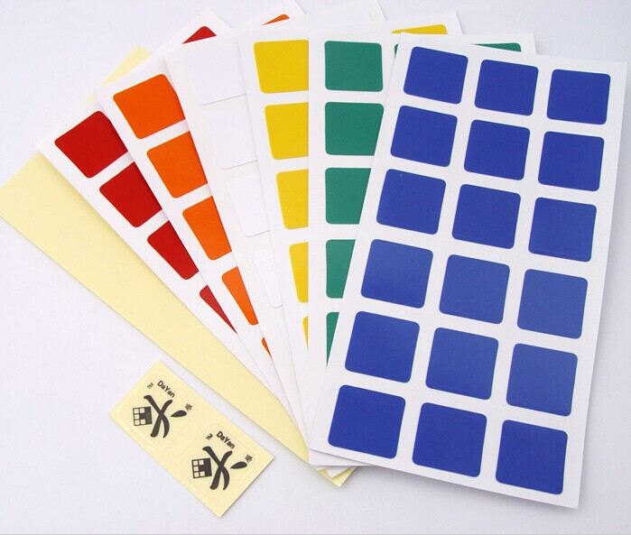 6pcs / pack DIY Brand Guhong Magic Cube Smooth Surface Sicker - Игры и головоломки