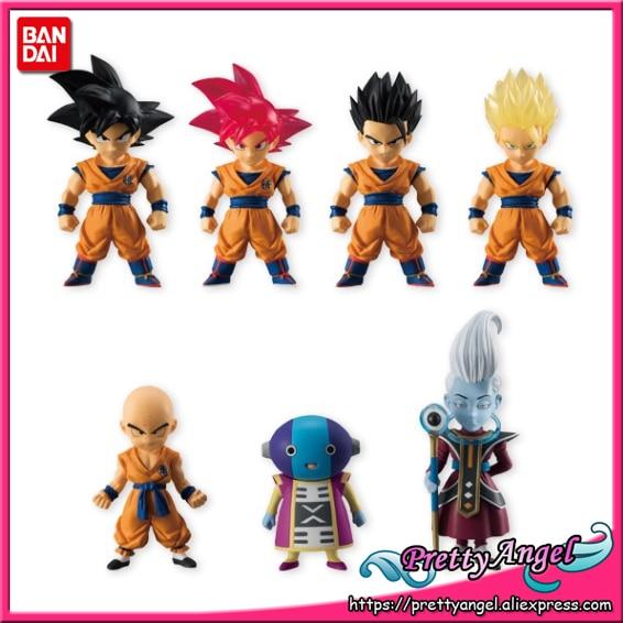 Genuine Bandai Tamashii Nations ADVERGE 05 Dragon Ball SUPER Full Set of 7 Pcs Goku Whis Gohan Krillin Zen-Oh Action Figure цена и фото