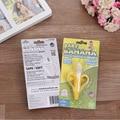 Segurança Banana mordedor Dentição Do Bebê escova de Dentes infantil bebê silicone mordedor vara mastiga Mordedores brinquedos do bebê cuidados de higiene