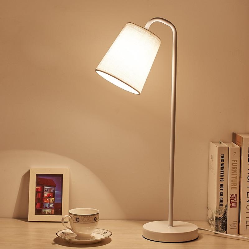 Bedroom Lamps Black: Modern LED Table Desk Lamp For The Bedroom Living Room