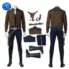 Han Solo Cosplay Halloween Costumes for Men Movie Solo: A Star Wars Story Captain General Full Set Custom Made