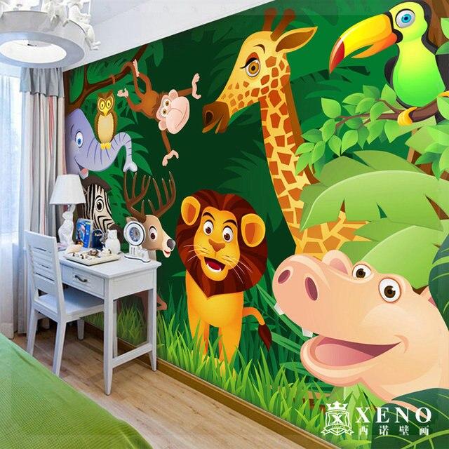 4452 Free Shipping The Large Mural Wallpaper Child Real Beijingqiang Cartoon Wallpaper Jungle Grifo De Ducha En Fondos De Pantalla De Mejoras Para