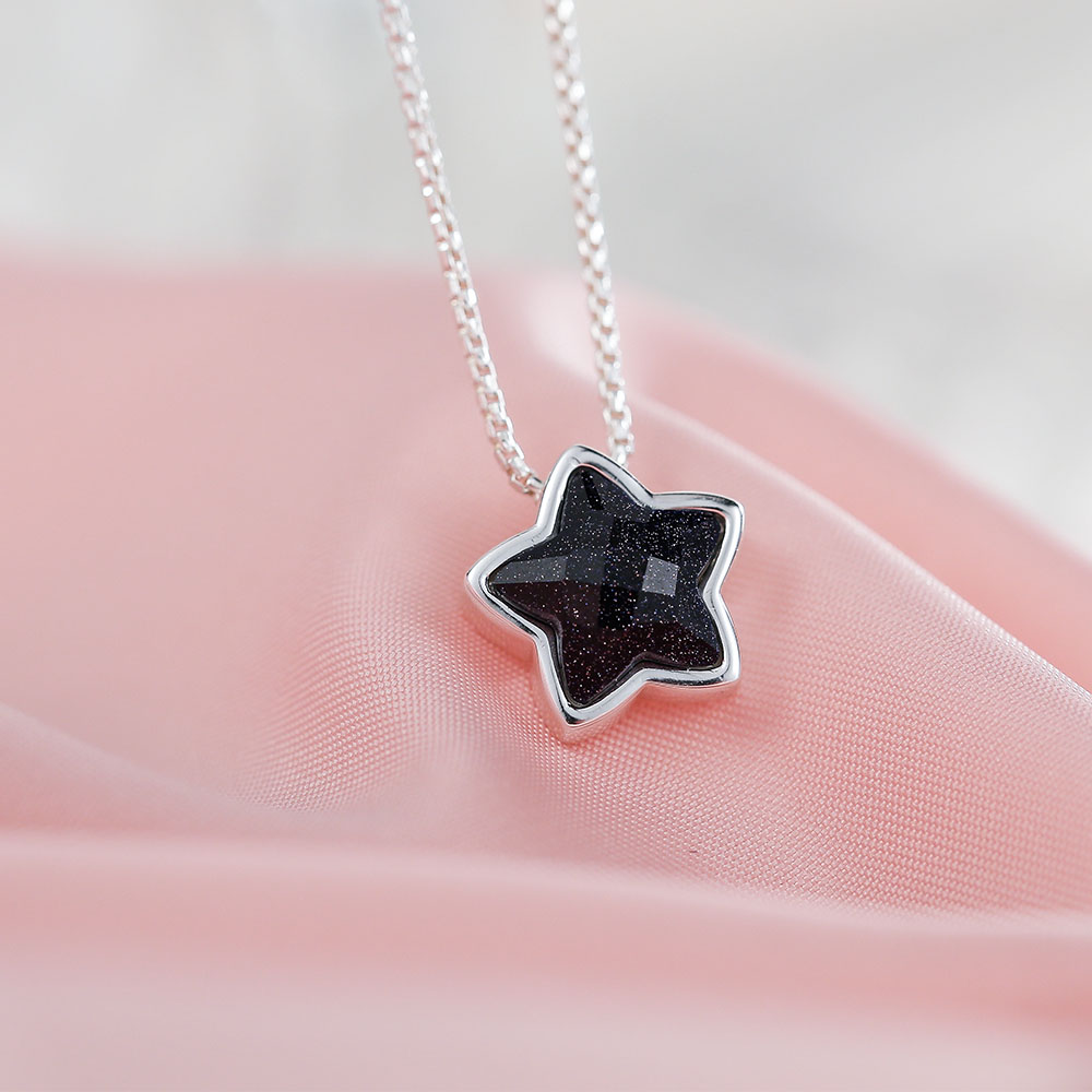 jewellery star products daily silver wishing fine moon necklace iconic