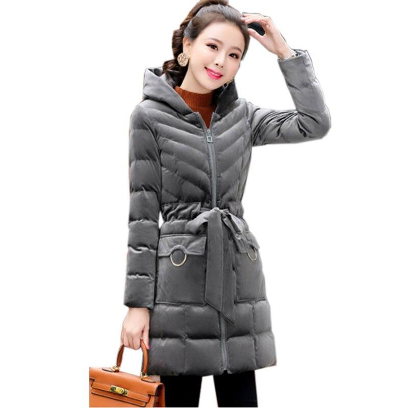 À pink Gray Coton Manteau 2019 En Blue red Doudoune D'hiver Chaud Parkas Femmes Couche Velours Hiver Or Capuchon navy caramel Lj20 Mince Épaisse SH0wxT