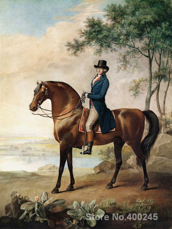 Horses oil Painting for Living room warren hastings by George Stubbs Hand painted High quality