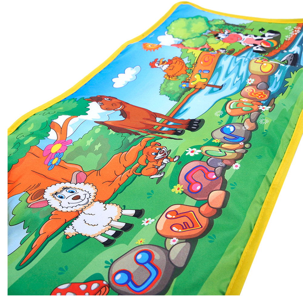 Hot Kids Baby Zoo Animal Musical Touch Play Singing Carpet Mat Toy free shipping hot sale17Nov07