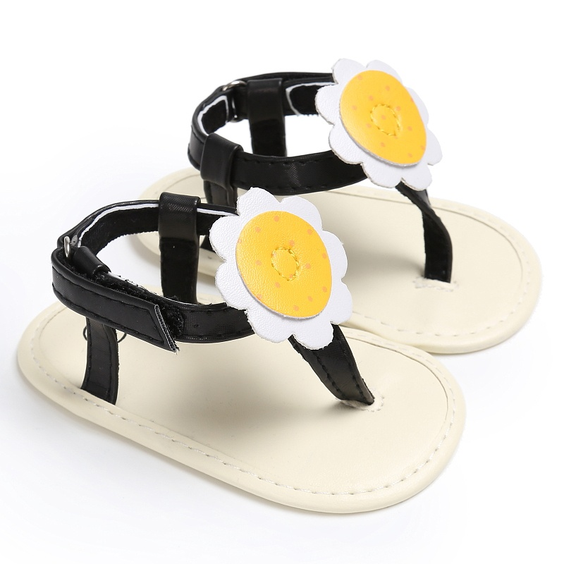 Baby Girl Shoes Cute Sunflower PU Leather Baby Moccasins Child Summer Shoes Summer 2017