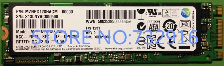 Free shipping MZ NPD1280 000 SATA3 Thinkpad NGFF M 2 THINKPAD X notebook SSD 128GB 100
