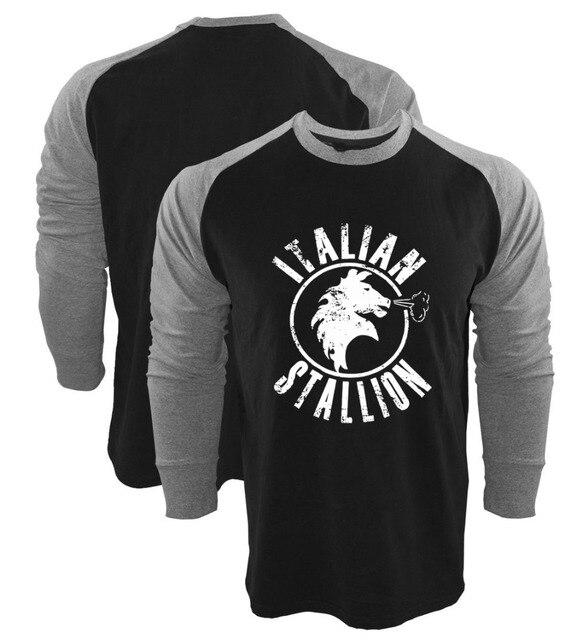 6b343b64e14b 2017 New Autumn Spring shirts Rocky Balboa Italian Stallion Black Grey Long  Sleeve Raglan Shirt camiseta men women Top tshirt