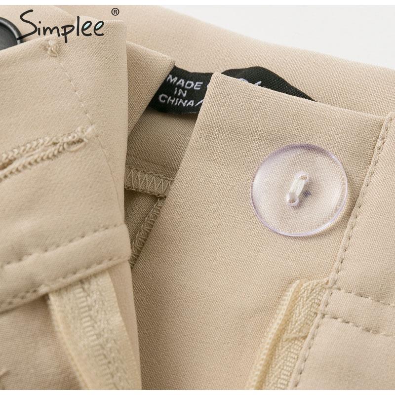 Simplee Solid casual harem pants female trousers High waist office ladies blazer suit pants Loose Ankle-length women pants 19 12