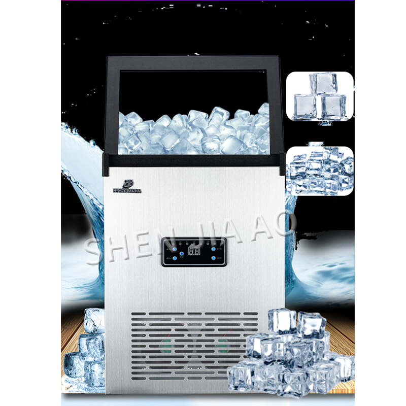70KG/days 110 220V Ice machine commercial ICE MAKER small tea shop/bar/large capacity household/automatic ice making machine 1pc - 5