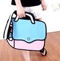 3d Bags Novelty Back To School Bag 3d Drawing Cartoon Paper Comic Handbag Women Shoulder Bag Messenger Color Gift Bolsa Feminina
