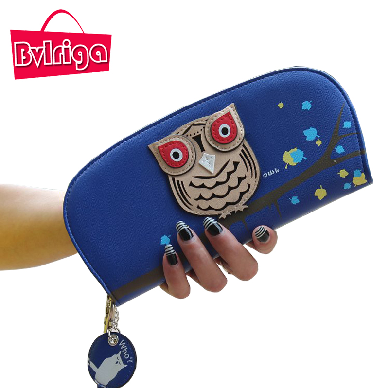 BVLRIGA Cartoon Owl Wallet Women Anime Cute Coin Purse Credit Card Holder Ladies Leather Purse Pink Zipper Pouch Girls Clutches рубашки
