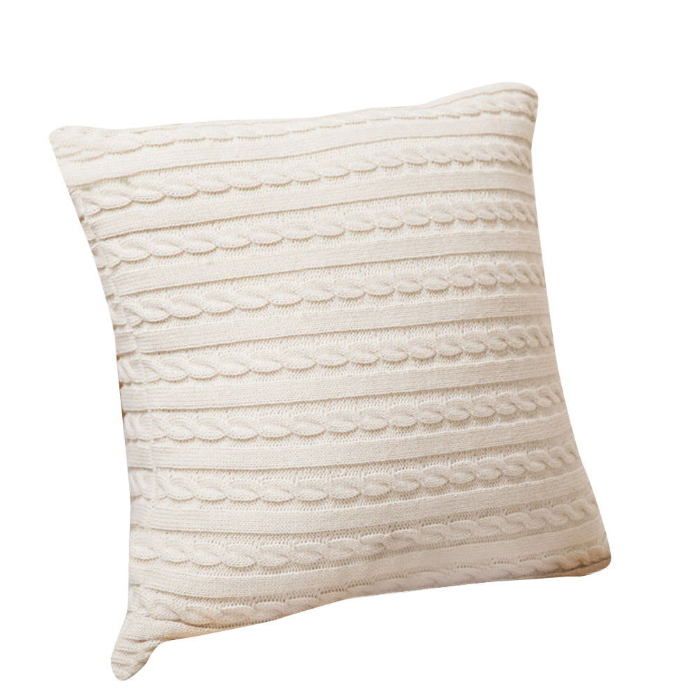 HOT SALE Knitting Fashion Throw Pillow Cases Cafe Home Decorative Cushion Case Covers