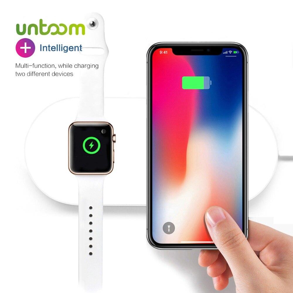 La puissance aérienne Pour iWatch 2 3 QI Sans Fil Chargeur Pour iPhone X 8 8 plus Rapide Rapide De Charge Pad Pour Apple montre Sumsang S9 S8 S7 S6