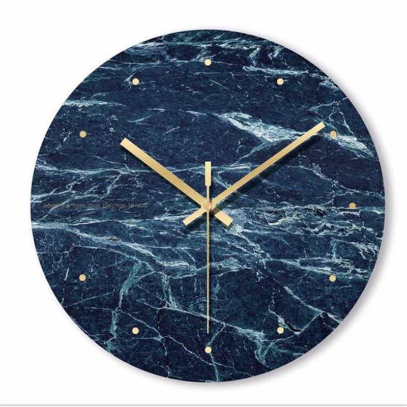 Скандинавские закаленные стеклянные настенные часы с тихим ходом дизайнерские часы креативные модные часы для гостиной кошмар Befor Рождество