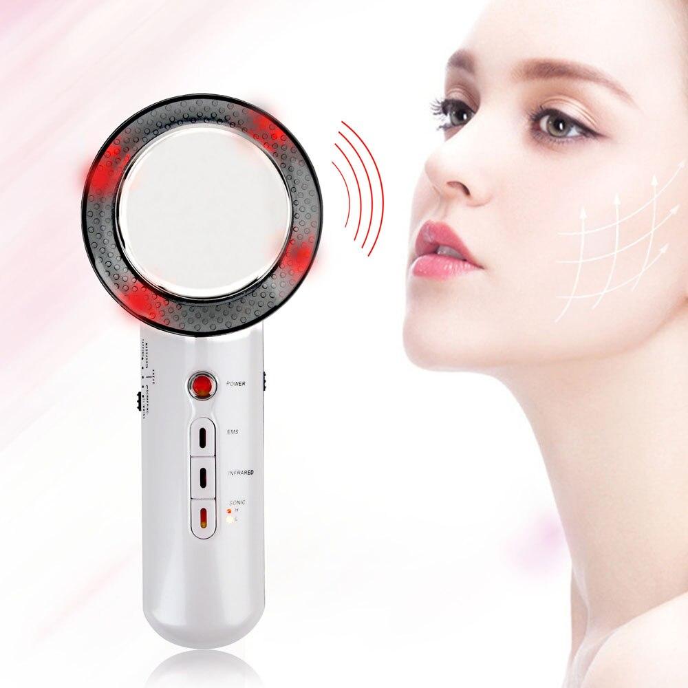 Drop Shipping 3 in 1 Ultrasound Cavitation EMS Ultrasonic Body Slimming Massager Fat Burner Galvanic Infrared Ultrasonic Therapy 1