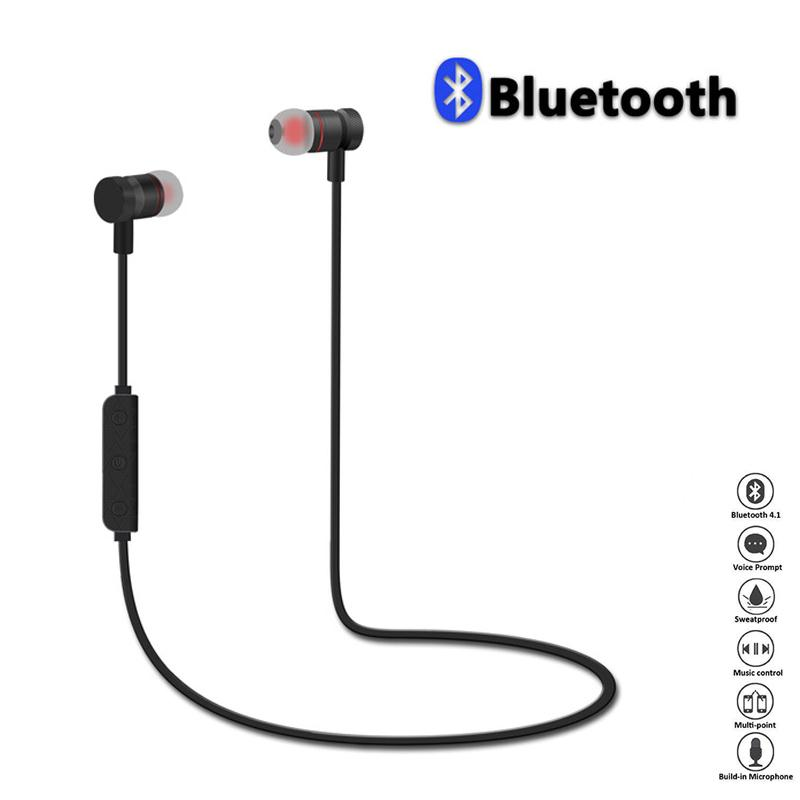 Magnet Wireless Earphones Headset Bluetooth Sports Earphone Hansfree Headphones For Smart Mobile Phone Portable freeshipping remax s2 bluetooth headset v4 1 magnet sports headset wireless headphones for iphone 6 6s 7 for samsung pk morul u5