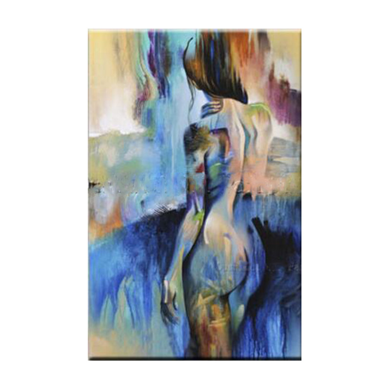 Modern Abstract Home Decor Wall Art Picture Handpainted Nude Women Oil Painting On -6400