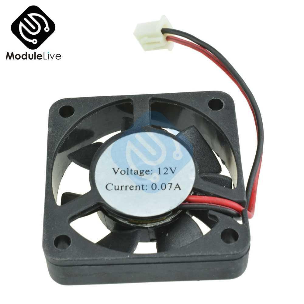 Kasus Komputer Cooler 2Pin 12V 4 Cm 40 Mm PC CPU Cooling Cooler Fan Hitam Wastafel Panas Kecil Pendingin fan PC UNTUK ARDUINO Raspberry Pi