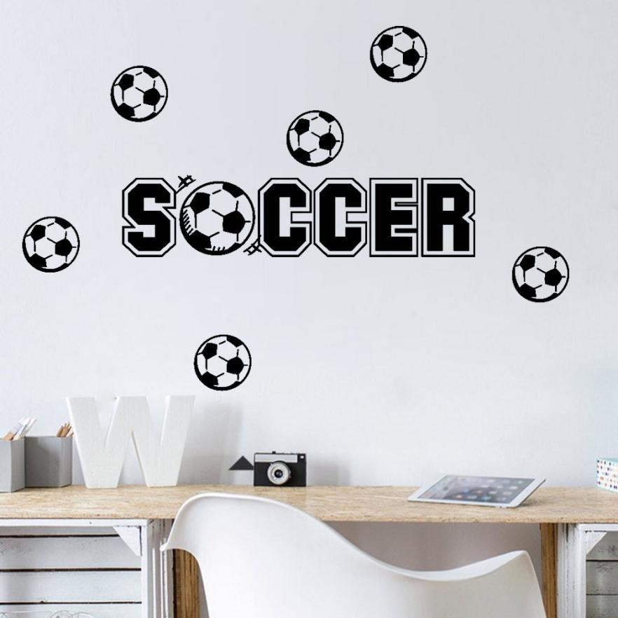 Wall stickers home decor living Soccer Removable Art Vinyl Mural Home Room Decor Wall St ...