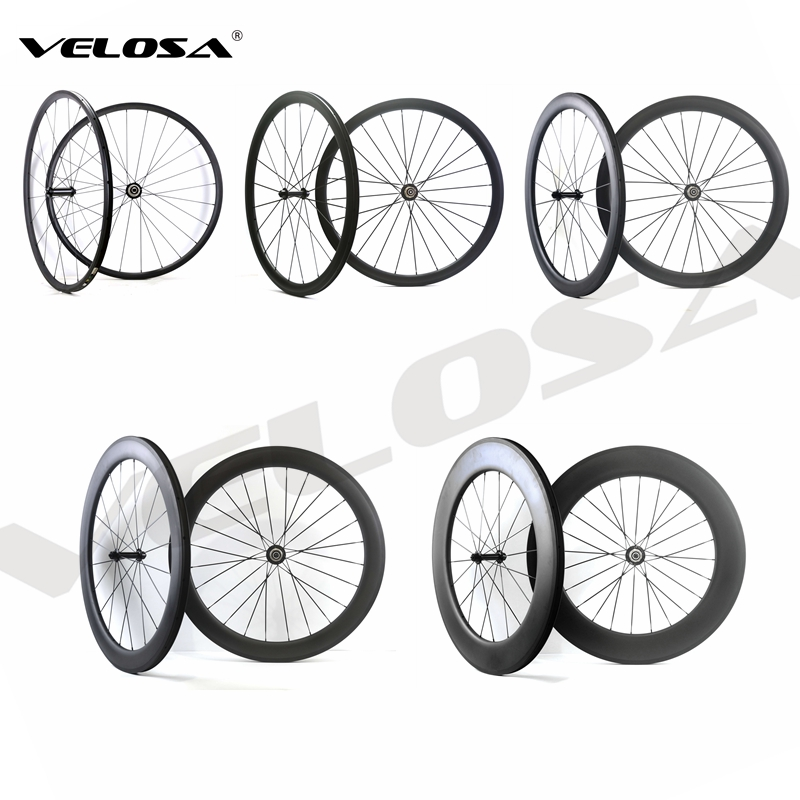 700C Road Bike Carbon Wheels 24mm 38mm 50mm 60mm 88mm Tubular Clincher Super Light Carbon Wheelset Free Shipping