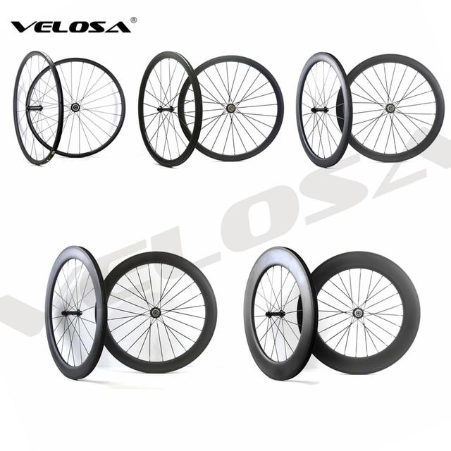 700C vélo de route Carbone Roues 24mm 38mm 50mm 60mm 88mm Tubulaire Pneu Super Léger Carbone roues livraison gratuite