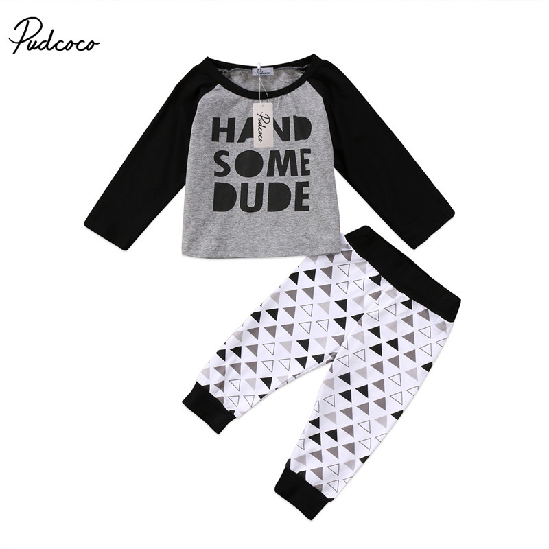 US Baby Boys Girls Clothes Top T-Shirt+Pants Leggings Newborn Clothes Outfit Set