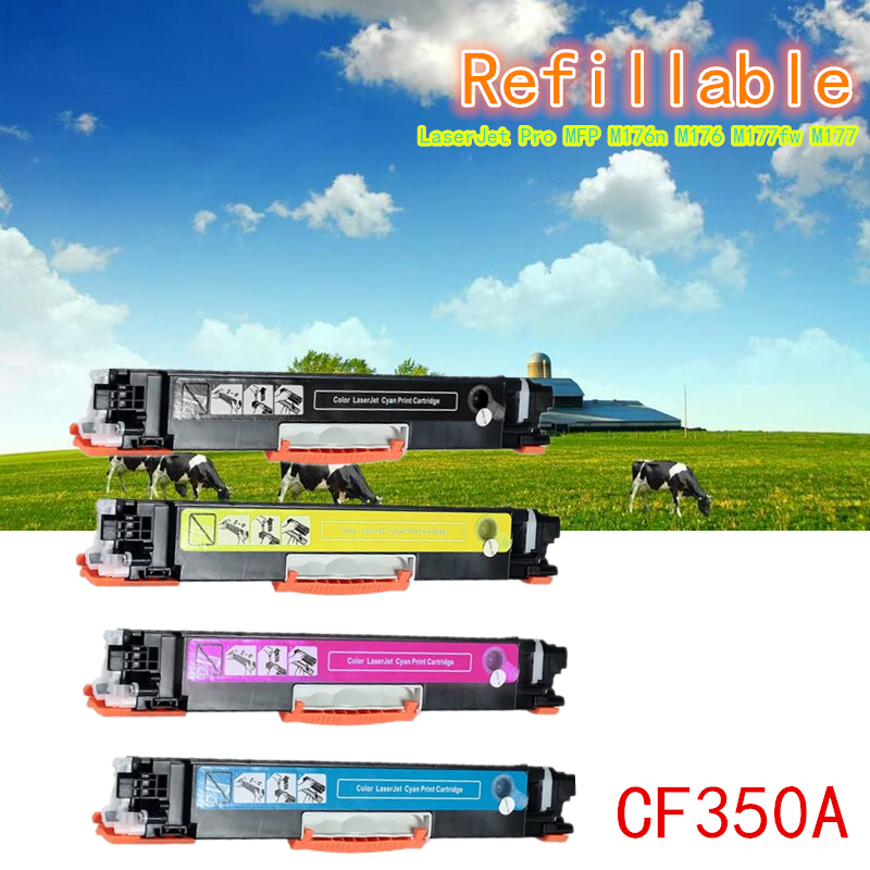 A++ 130A/A CF350A CF351A CF352A CF353A 350A/A Toner Cartridge Compatible For HP Color Laserjet Pro MFP M176n M176 M177fw M177