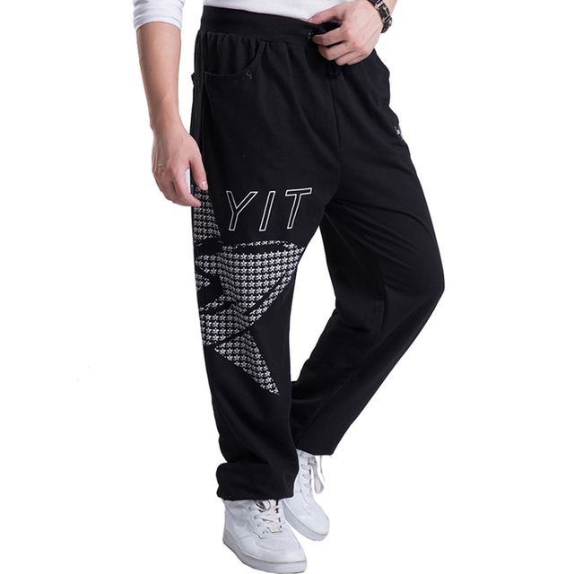 2016 Fashion Mens Joggers Star Printed Baggy Hip Hop male Jogger Pants open air Sweatpants Men Trousers Pantalon Homme 5XL A239