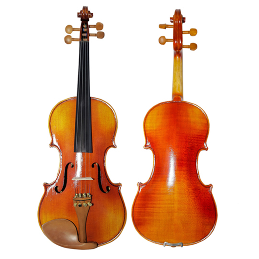Natural Stripes Maple Violin beginner Hand-craft Violino 4/4 Full Size Musical Instrument violon with Accessories  bow case violin bow 4 4 high grade brazil wood ebony frog colored shell snake skin violino bow fiddle violin parts accessories bow