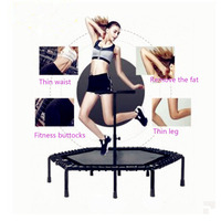 Trampoline adult gym commercial hexagonal elastic rope mute with arm trampoline fitness equipment