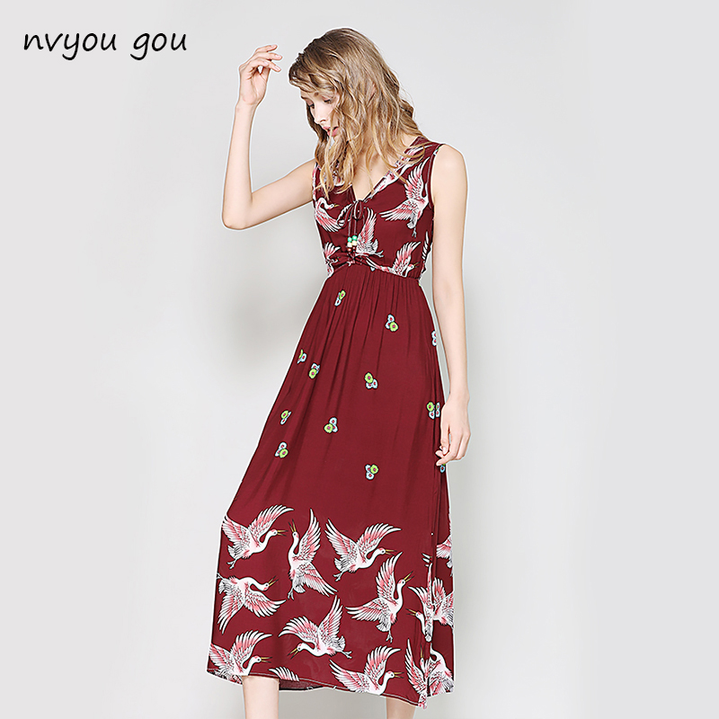 nvyou gou Women Summer Sexy Off Shoulder Long Dress Floral Print Casual Maxi Chiffon 2018 Boho Pleated Party With Belt Dresses