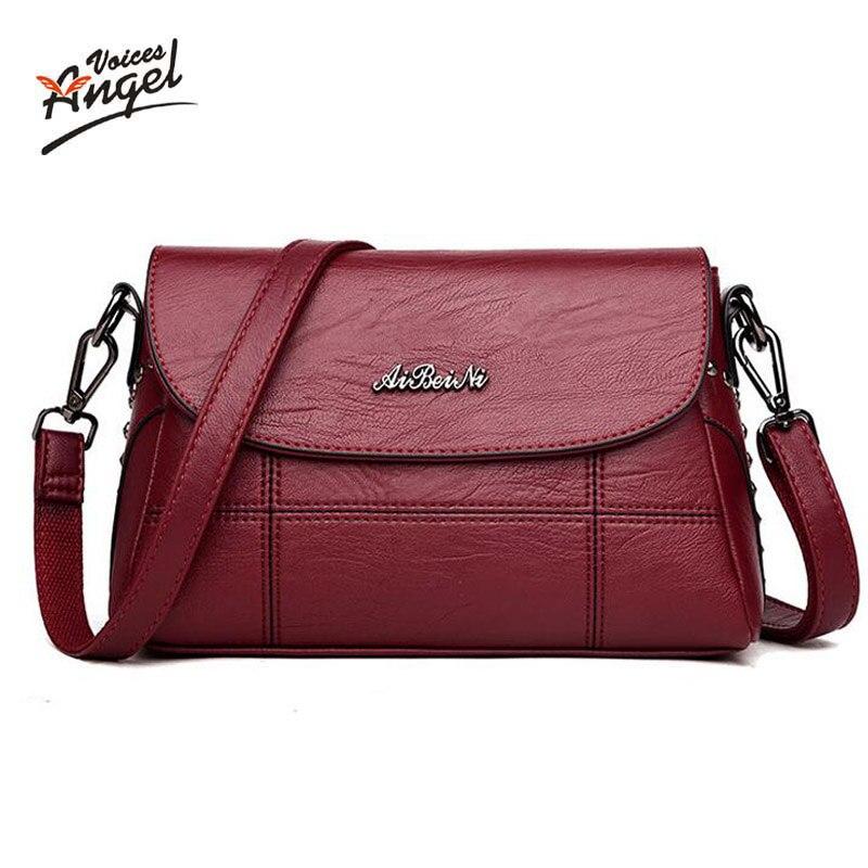 Casual Women Soft Pu Leather Handbag Female Shoulder Bag Messenger Bag 2018  Brand Designer Spring Women Bag 4c1783c968