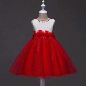 Платье подружки невесты из тюля с цветочным узором для маленьких девочек, Пышное Бальное Платье на день рождения, вечернее платье для выпус...