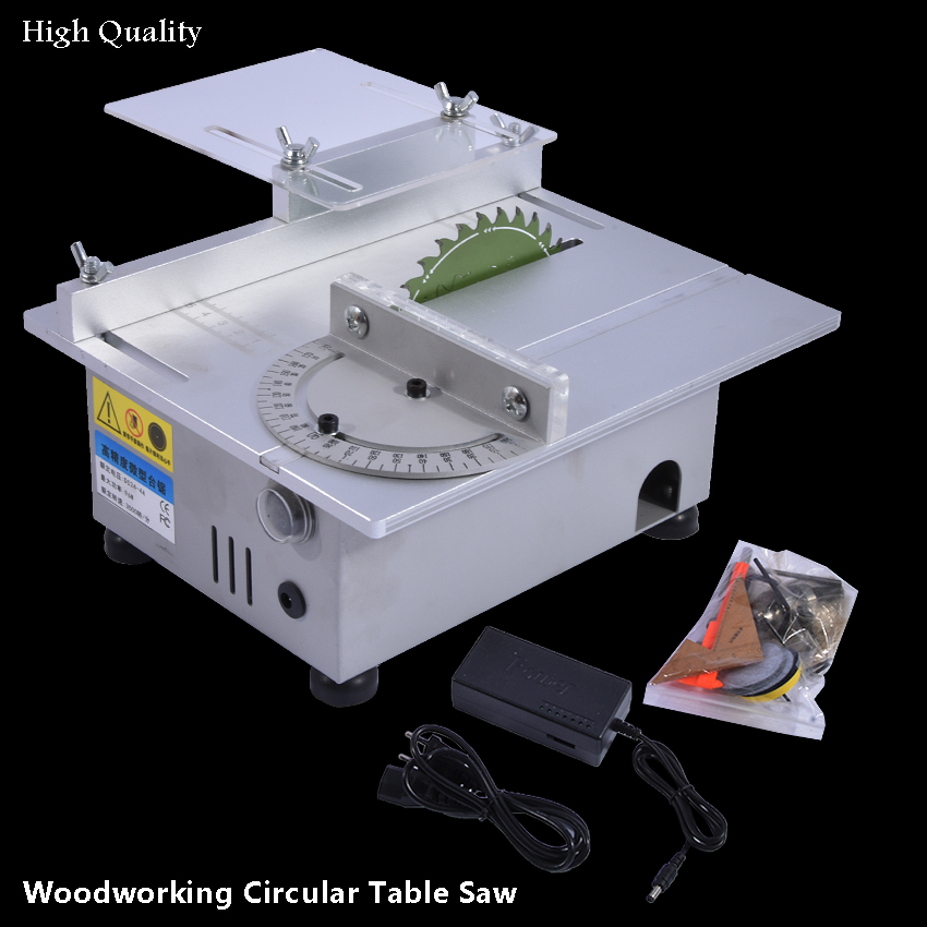 Mini Woodworking Table Saw DC24V-4A 3500RPM High Precision Wood Cutting Machine DIY Model Carpentry Circular Saws 96W 1.5-10mm