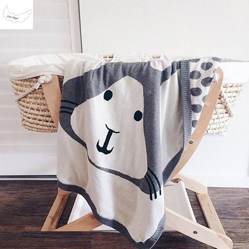 New INS Kids Rabbit Fox Knitting Blanket Bedding Quilt Play Blanket 90X120cm Animal Kids Throw Blanket Crib Use free shipping ruffles embellished knit mermaid blanket throw for kids