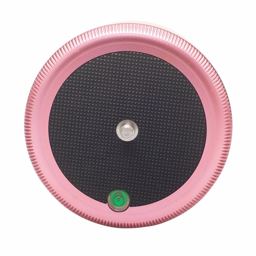 AFI MRA01 Mini Electric Tripod Head 360-Degree Panorama Head For GoPro Action Camera Professional Metal Ball Head Pink