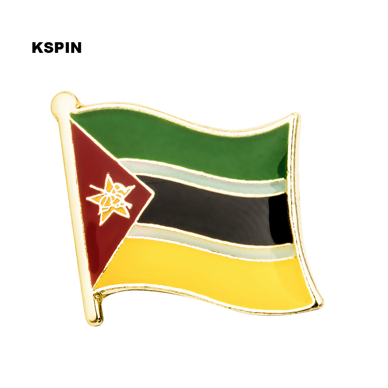 MOZAMBIQUE Country Metal Flag Lapel Pin Badge