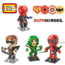 Deadpool/Red Skull/Green Arrow/Hawkeye Micro Nano LOZ Bricks Diamond Building Blocks Intellectual Development Toys Minifigure