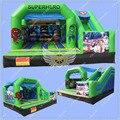 2016 Venta Caliente Superhéroe Inflable Castillo Hinchable, comercial Gorila Inflable de Diapositivas para Su Negocio de Alquiler