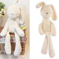 Для маленьких детей прекрасный белый материал плюшевые игрушечные лошадки для Childern кролик спальный комфорт гладкой теплый успокоительная ...